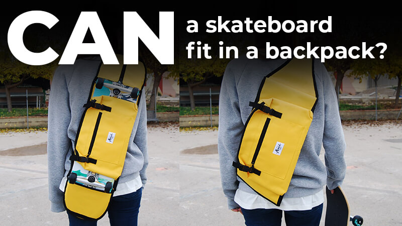 skateboard fit in a backpack