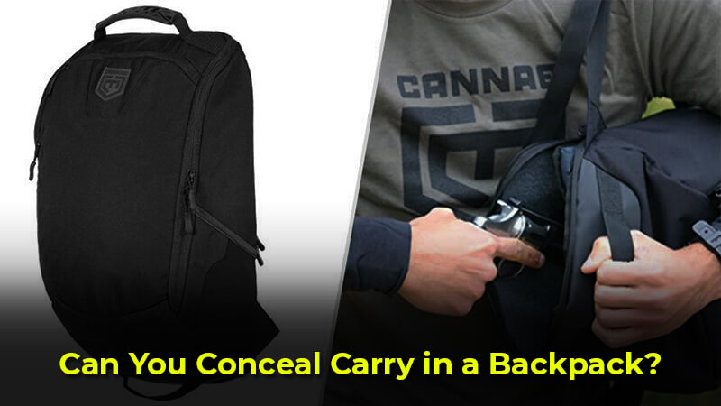 Can you conceal carry in a backpack